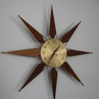 HOW TO REPAIR / REFURBISH A MID CENTURY STARBURST WALL CLOCK