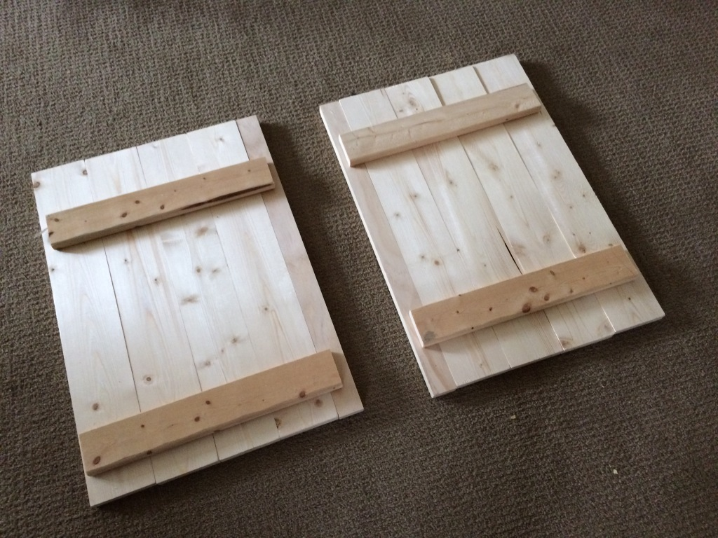 DIY Cabinet Doors for kitchen cart