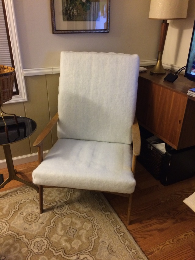 Mid Century Chair Before and After Furry Furniture